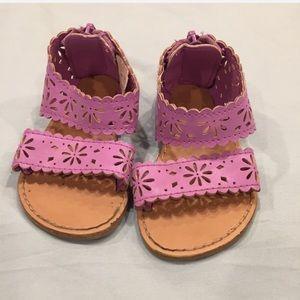 Adorable Crazy 8 Purple Zip up Baby Sandals